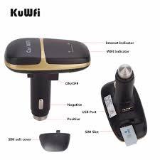 <b>Kuwfi Unlocked 4G LTE</b> Car Wifi Router CarFi Modem Router SIM ...