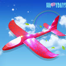 <b>Hand Launch</b> Throwing Glider EVA Aircraft 3 Modes LED Light ...