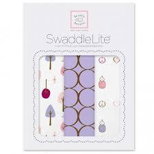 <b>Набор пеленок SwaddleDesigns SwaddleLite</b> Cute & Calm Lavender