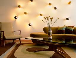 downtown apartment example of a 1960s living room design in new york with white walls bedroom mood lighting design