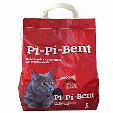 <b>Наполнитель</b> для кошачьего туалета <b>Pi</b>-<b>pi</b>-<b>bent комкующийся</b>, 5.0 кг