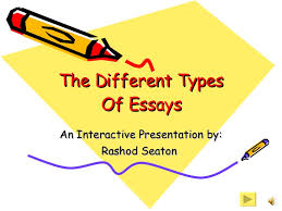 examples of different types of essays  wwwgxartorg different types of essays