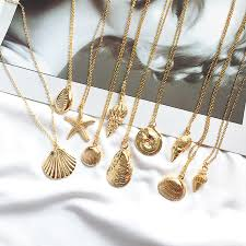 <b>2019</b> New <b>Fashion</b> Gold Color Alloy Cowrie Shell <b>Necklace</b> for ...