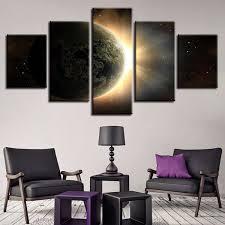 <b>Modular Pictures</b> Wall Art Print <b>5 Pieces</b> Earth Light Poster On ...