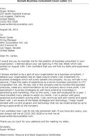 consultant cover letter examples cover letter consulting