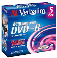 Verbatim анонсирует 8-см <b>диски</b> Mini <b>DVD</b>-<b>R Double</b>-Layer