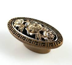 <b>Knobs Dresser Knob Drawer Knobs Pulls Handles</b> Flower <b>Gold</b> ...