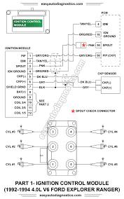 part l ford explorer ranger ignition system 1992 1993 1994 4 0l ford explorer and ranger ignition control module wiring diagram