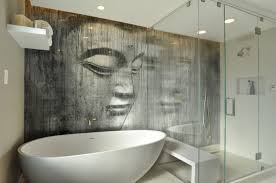 bathroom decor ideas unique decorating: bathroom unique zen bathroom decoration idea with interesting wall decoration including best painting of woman