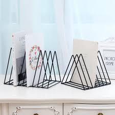 4 <b>Grid File</b> Storage Book Shelf Wrought <b>Iron</b> Stand Holder <b>Desktop</b> ...