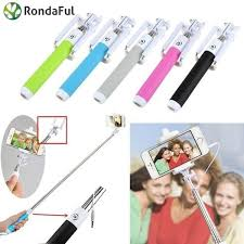 Newest Rondaful <b>Newest Universal Selfie Stick</b> Wired Stick To Selfie ...