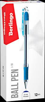 <b>Ручка шариковая BERLINGO</b> I-10, синяя, 0,4мм, грип CBp_40012 ...