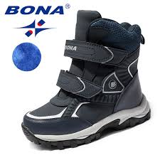 BONA <b>New Classics Style</b> Children Boots Hook & Loop Boys Snow ...