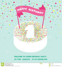 happy birthday invitation cards cupcake happy birthday flat card happy birthday and party invitation card place for your text