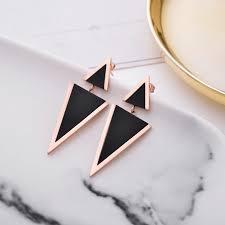 New <b>Fashion Women</b> Jewelry Irregular Triangle Stud Earrings ...