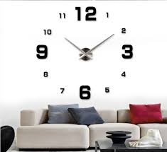 aliexpresscom buy large size diy wall clockbig size simple mirror digital numbers wall stickers clockunique home decor decoration modern design from big unique diy wall clocks