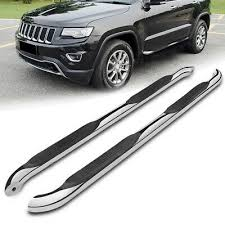 for 11-19 Grand Cherokee <b>Chrome Stainless Steel Side</b> Step Nerf ...