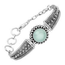 Silpada 'Skylight' 6 1/4 ct <b>Natural Chalcedony</b> Bracelet in <b>Sterling</b> ...