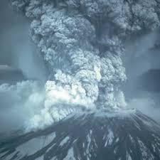Ilustrasi letusan gunung Toba