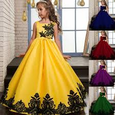2018 fashion Girls <b>Kids</b> embroider <b>Party Dress Children Evening</b> ...