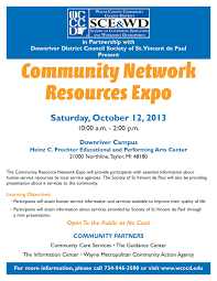 community network resources expo downriver st vincent de paul community network res expo final small