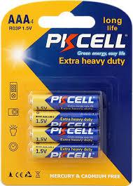 <b>Батарейка AAA</b> солевая <b>PKCELL</b> R03P-4B 4шт — купить в ...