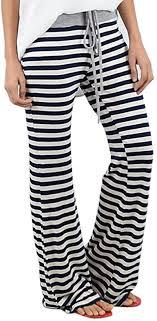 HARRYSTORE Ladies Palazzo Trousers <b>Stripe Wide Leg</b> Pants ...