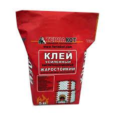 <b>Клей для печной плитки</b> жаростойкий Терракот, 5 кг купить в ...