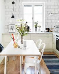 awesome scandinavian kitchen design with retro accents outstanding scandinavian kitchen design with white dining set awesome scandinavian ideas
