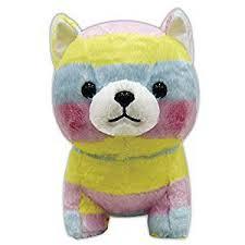 Amuse <b>Plush</b> Doll <b>Mame Shiba</b> Three Brothers Big <b>Stuffed</b> Rainbow ...