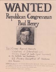 calling out congressman paul henry was one tactic in the paul henry poster
