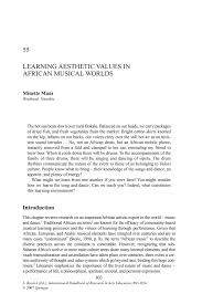 learning aesthetic values in african musical worlds springer inside