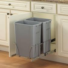 Kitchen Cabinet Slide Out Storage Alluring White Kitchen Cabinet With Pull Out Trash Cans