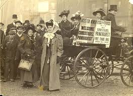 「1908, 250000 women demonstration for women voting right」の画像検索結果