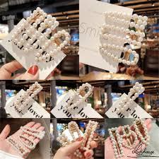 INS <b>Fashion Korean</b> Cute Pearl Hairpin <b>Hollow</b> Hairpin Duckbill Clip ...