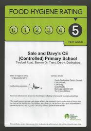 davys primary school current news  following an inspection on 12 2013 we were awarded the top food hygiene rating