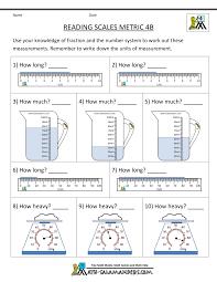 4th Grade Measurement Worksheets4th grade measurement worksheets reading scales metric 4b