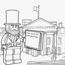 Small Picture Lego Minifigures Coloring Pages