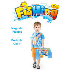 in Magnetic Toy <b>Fishing</b> Chair <b>Portable</b> Toys Set Kids Education ...