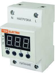 <b>Реле напряжения</b> 1ф серии РН 2 63А-220В (LED-дисплей) <b>TDM</b> ...