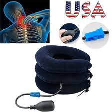 <b>Air Inflatable</b> Pillow <b>Cervical Neck</b> Pain Traction Support Brace ...