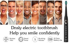 Sonic Rechargeable Electric Toothbrush for Adults, 5 Modes with 2 ...