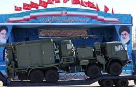 Image result for image of n S-300 missile system is displayed by Iran's Army