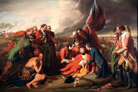 battle of quebec  death of general wolfe at the battle of quebec 13th 1759 in the french and