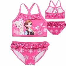 Summer Baby <b>Girl</b> Children's <b>Swimwear</b> Print <b>Anna Elsa</b> Princess ...