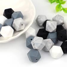 <b>TYRY</b>.<b>HU</b> 10pcs <b>Silicone</b> Beads <b>14mm</b> Baby Teething Teether Bead ...