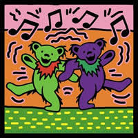 Grateful Dead Dancing Bear Stickers and Decals - Grateful Dead ...