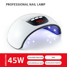 <b>45W</b> Nail <b>Dryer</b> LED Lamp UV Light for <b>Nails Polish</b> Gel Machine ...