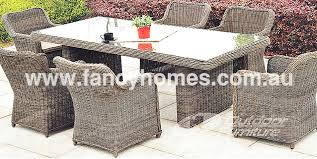 rattan outdoor dining table chairs furniture