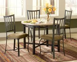 Granite Dining Room Tables Round White Granite Dining Table On Black Iron Legs Also Black